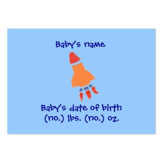 Cartão com fotos do anúncio do nascimento de cartão de visita grande