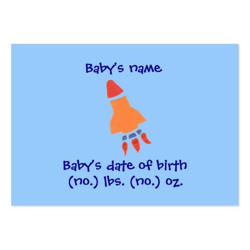 Cartão com fotos do anúncio do nascimento de Rocke Cartões De Visita