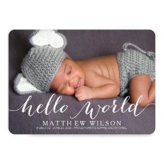 Cartão Cartão com fotos do anúncio do nascimento do bebê