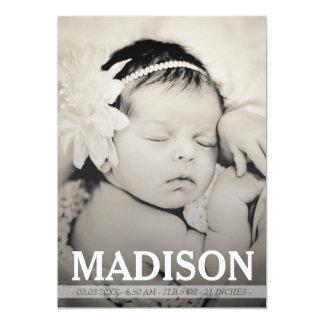 Cartão com fotos do anúncio do nascimento do bebé convites personalizados