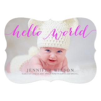 Cartão com fotos do anúncio do nascimento do bebê convite 12.7 x 17.78cm