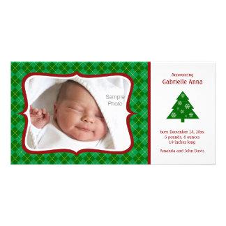 Cartão com fotos do anúncio do nascimento do Natal Cartão Com Foto