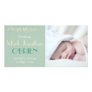 Cartão com fotos do anúncio do nascimento dos cartão com foto