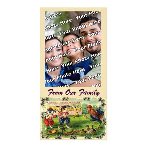 Cartão com fotos do basebol do coelhinho da Páscoa