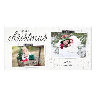 Cartão com fotos do chique da casa da quinta