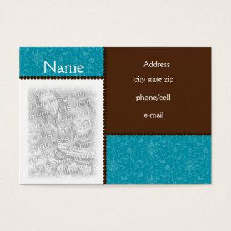 Cartão com fotos do chocolate e da cerceta