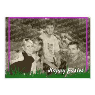 Cartão com fotos do coelhinho da Páscoa Convites Personalizados