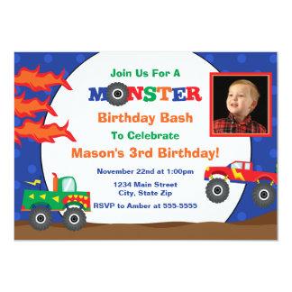 Cartão com fotos do convite 5x7 do aniversário do