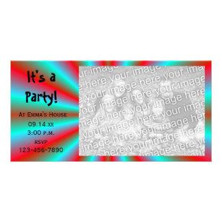 Cartão com fotos do convite de festas da estrela