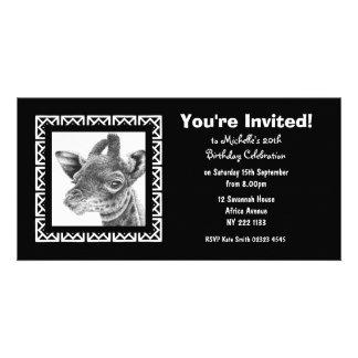 Cartão com fotos do convite do aniversário do gira