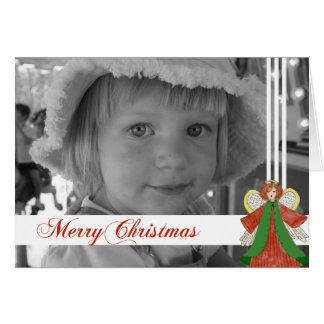 Cartão com fotos do costume do anjo do Natal