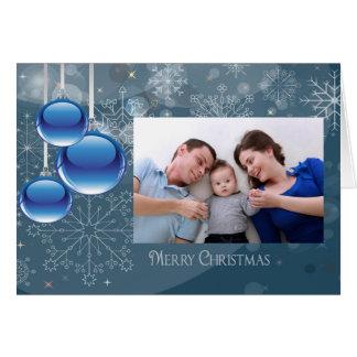 Cartão com fotos do costume do Feliz Natal