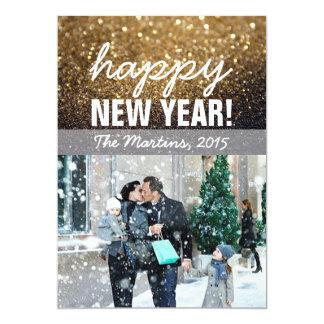 Cartão com fotos do cumprimento do ano novo convite 12.7 x 17.78cm