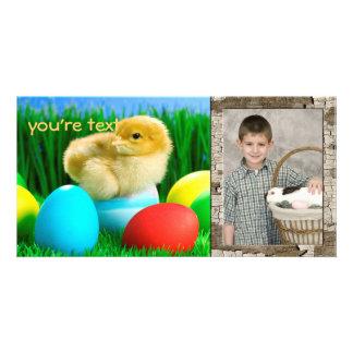 Cartão com fotos do dia da páscoa