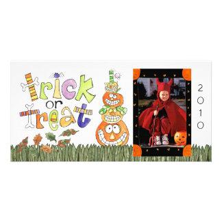 Cartão com fotos do Dia das Bruxas Cartão Com Foto