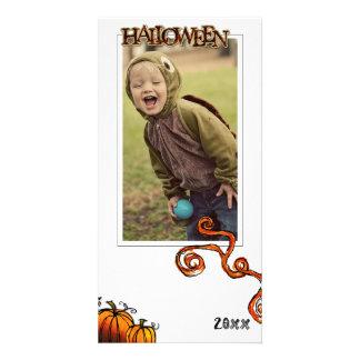 Cartão com fotos do Dia das Bruxas