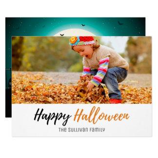 Cartão com fotos do Dia das Bruxas da família do Convite 12.7 X 17.78cm