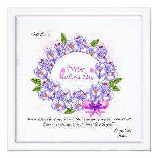 Cartão com fotos do dia das mães da grinalda do