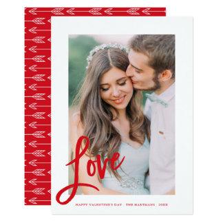 Cartão com fotos do dia dos namorados das setas de