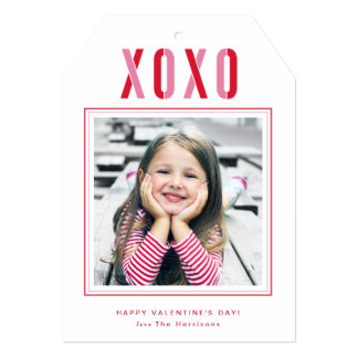 Cartão com fotos do dia dos namorados de XOXO