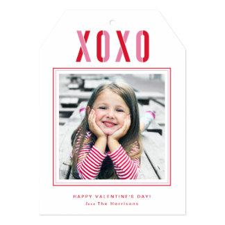 Cartão com fotos do dia dos namorados de XOXO Convite 12.7 X 17.78cm