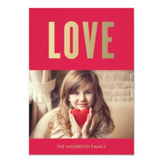 Cartão com fotos do dia dos namorados do amor | convite 12.7 x 17.78cm