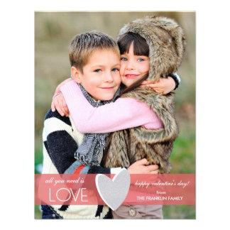 Cartão com fotos do dia dos namorados do brilho do convite