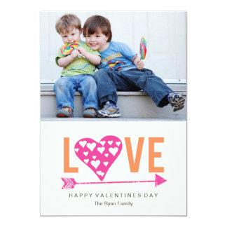 Cartão com fotos do dia dos namorados do coração convite 12.7 x 17.78cm