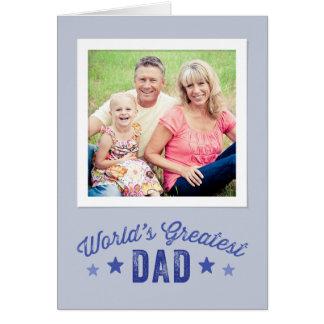 Cartão com fotos do dia dos pais do pai | do mundo