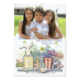 Cartão com fotos do estilo do artesanato do felz convite 12.7 x 17.78cm