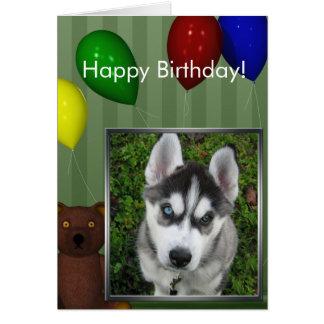 Cartão com fotos do feliz aniversario