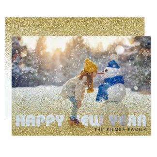 Cartão com fotos do feliz ano novo - cartão 2018