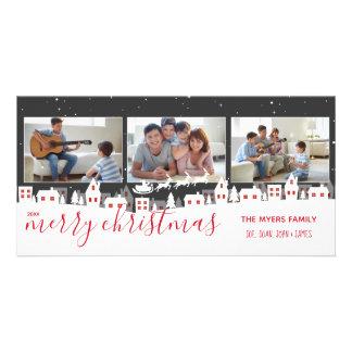 Cartão com fotos do Feliz Natal