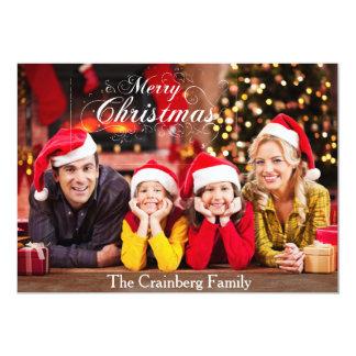 Cartão com fotos do Feliz Natal Convite 12.7 X 17.78cm