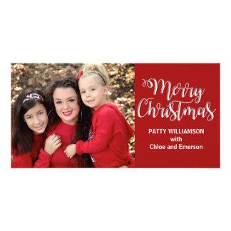 Cartão com fotos do Feliz Natal do pai do pai da