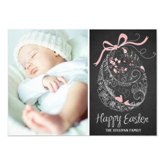 Cartão com fotos do felz pascoa do ovo da páscoa | convite 12.7 x 17.78cm