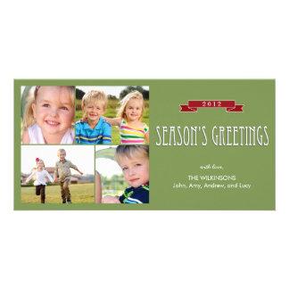 Cartão com fotos do feriado da bandeira do feriado cartão com foto
