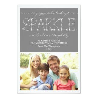 Cartão com fotos do feriado da faísca e do brilho convites personalizados