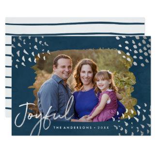 Cartão com fotos do feriado da neve   do inverno