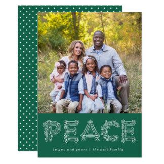 Cartão com fotos do feriado da paz