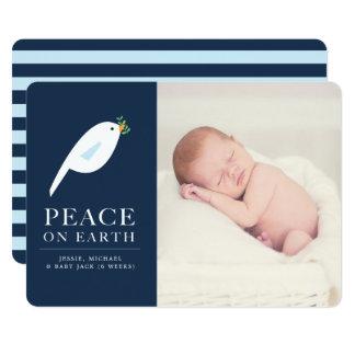 Cartão com fotos do feriado da pomba da paz