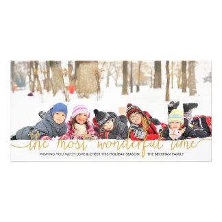 Cartão com fotos do feriado da tipografia do brilh cartão com foto