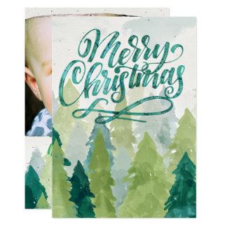 Cartão com fotos do feriado das árvores de Natal