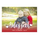 Cartão com fotos do feriado das bênçãos | do convite personalizados