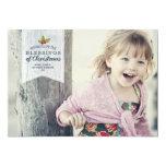 Cartão com fotos do feriado das bênçãos | do Natal Convite Personalizado