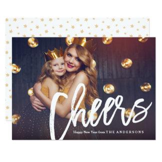 Cartão com fotos do feriado do ano novo dos convite 12.7 x 17.78cm