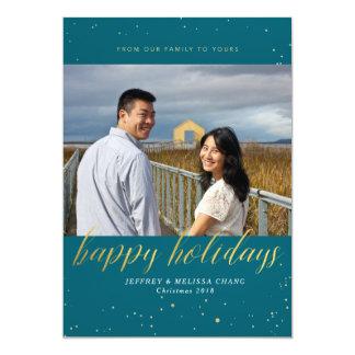 Cartão com fotos do feriado do brilho