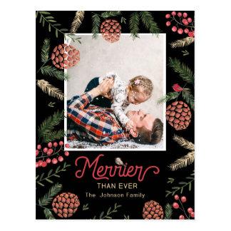 Cartão com fotos do feriado do cartão | do cone |