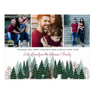 Cartão com fotos do feriado do cartão | dos