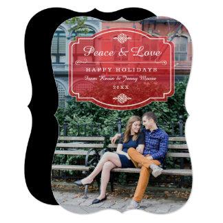 Cartão com fotos do feriado do caso amoroso de